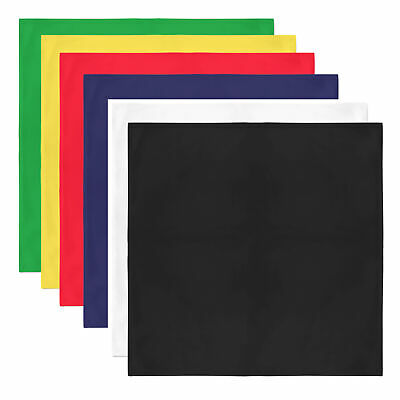 AU27.35 • Buy 10 Pack Unisex Solid 100% Polyester Plain Bandanas - Bulk Wholesale