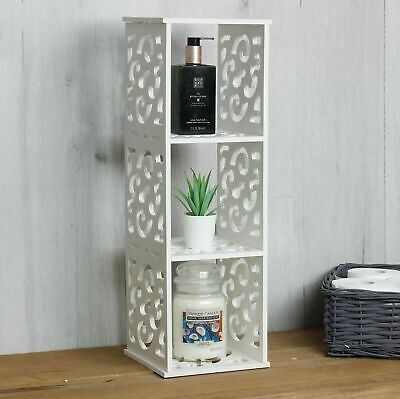 £8.27 • Buy 3 Cube Storage Unit Wooden 3 Tier Shelf Cabinet White Shelving Display Bookcase
