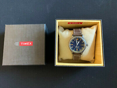 $74.99 • Buy Timex The Waterbury Blue Dial Leather Strap Unisex Watch TW2P84400