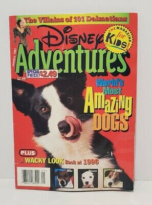 $4.99 • Buy Disney Adventures Magazine January 1997 World's Most Amazing Dogs Issue 90s