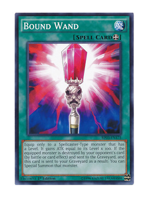 AU1 • Buy Bound Wand - Mint / Near Mint Condition YUGIOH Card