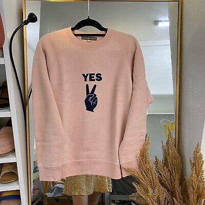 AU230 • Buy Alexa Chung Cute Yes Hoodie Super Cozy Soft Sz M RP$398usd Cant Find Anywhere!
