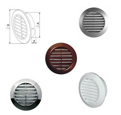 Mini Round Air Vent Grille Ø 60mm With Flange And Fly Screen Ventilation Cover • 3.83£
