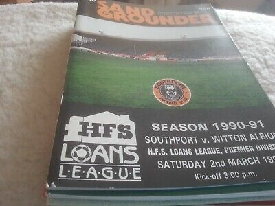 £2.50 • Buy Southport FC V Witton Albion 1990/91
