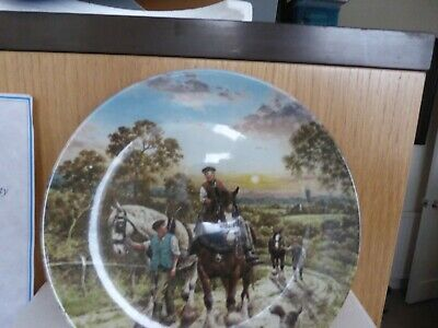 £3.50 • Buy End Of The Day - Life On The Farm Collection - Wedgwood Plate - 1989