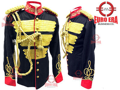 Steampunk Men's Military Style Hussar Tunic Jacket With Aiguillette & Epaulettes • 175£