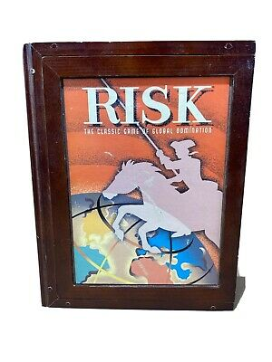 $32.88 • Buy Risk Classic Game Collection Wooden Library Book Shelf Wood Box Vintage Parker