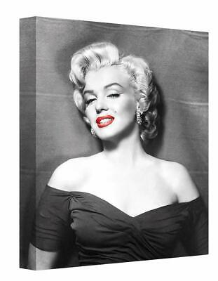 £17.50 • Buy Marilyn Monroe With Red Lips Canvas Print Wall Art. Picture Framed Ready To Hang