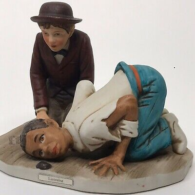 $ CDN23.45 • Buy Norman Rockwell Listening 1981 Dave Grossman 4.75  Figurine Huckleberry Fin HF-2