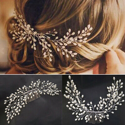 $ CDN5.03 • Buy Wedding Art Decor Pearl Bride Hair Comb Bridal Hair Accessories Ornaments 12UK