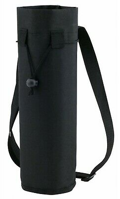Black Insulated Ice Bottle Cool Bag Picnic Drinks Carrier Wine Champagne Cooler • 4.99£