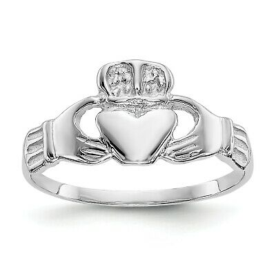 $96.06 • Buy 14k White Gold Polished Claddagh Ring. Metal Wt-1.48g