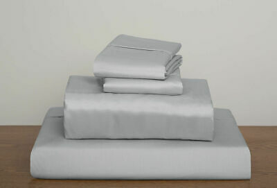 600~800~1000 Tc Silver Solid Hotel Sheet/duvet Set/fitted 100% Cotton Uk~size • 44.98£