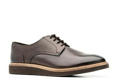 £6.99 • Buy Base London Mens Draco Smart Shoes Washed Brown Leather