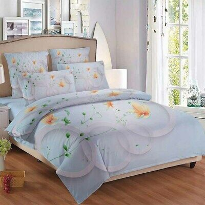 AU94.55 • Buy Green Flower 3D Quilt Duvet Doona Cover Set Single Double Queen King Print