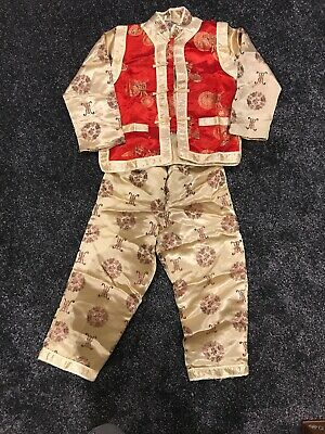 £25 • Buy Boys Toddler Red And Gold Chinese Outfit 5-6 Year Old Chinese New Year