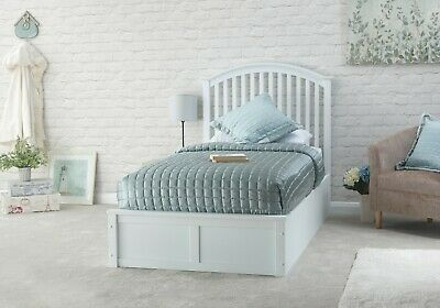 GFW Madrid Wooden Ottoman Bed Frame In 3FT Single Available In White Or Oak • 269.99£
