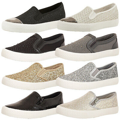 Ladies Dolcis Flat Slip On Womens Plimsolls Pumps Sneaker Skater Shoes Trainers  • 20.99£