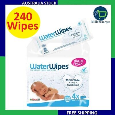 AU29.99 • Buy Water Baby Wipes For Sensitive Skin 240 Wipes Cleaning Wipes BRAND NEW AU