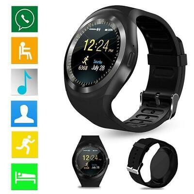 Waterproof Bluetooth Smart Watch Phone Mate For Android IOS Samsung LG/Y1 I T7W4 • 8.09£