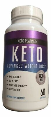 $12.99 • Buy Keto Platinum Advanced Weight Loss - 800mg 60 Capsules BHB Keytones - Fat Energy