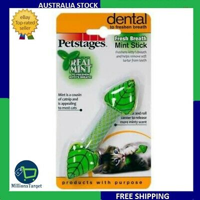 AU9.85 • Buy Cat Toy Animal Pet Sweet Smelling Breath Fresh Breath Mint Stick Pet Stages Best