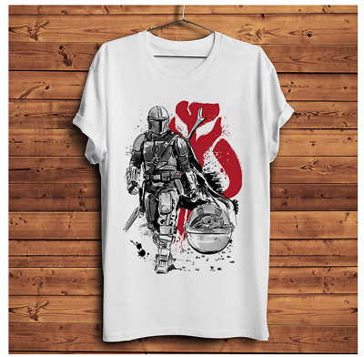 $10.99 • Buy The Mandalorian Warrior With Baby Yoda Funny T Shirt Men Best Gift For Birthday