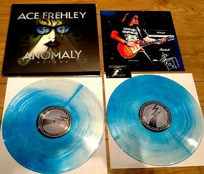 Ace Frehley Anomaly Deluxe 2017 Blue 2x LP 180g Vinyl+ DLoad+Print NM • 44.95£
