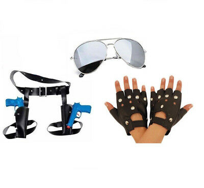 Lara Croft Fancy Dress Twin Thigh Guns & Holster Glasses Gloves Tomb Raider Set  • 14.99£