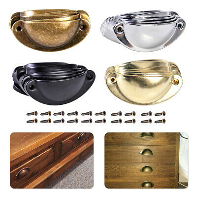 AU11.61 • Buy 10x Antique Drawer Cabinet Furniture Cupboard Door Shell Pull Handle Cup Set
