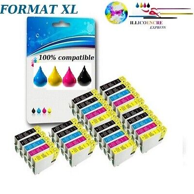 £8.25 • Buy 1-8 Compatible Ink Cartridges For Epson T-1281 1282 1283 1284 Stylus SX Dx
