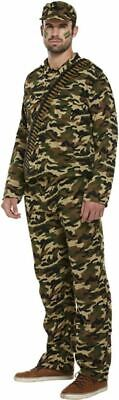 £14.50 • Buy Adults Army Man Military Camouflage Commando Camo Soldier Fancy Dress Costume