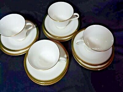 £38.36 • Buy WEDGEWOOD CHESTER Bone China Tea Cup With Saucers & Fruit Plates 12 Pc. Set