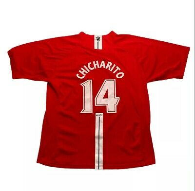 $22.88 • Buy Javier Hernandez Chicharito 14 Jersey Manchester United Soccer Red Size XL