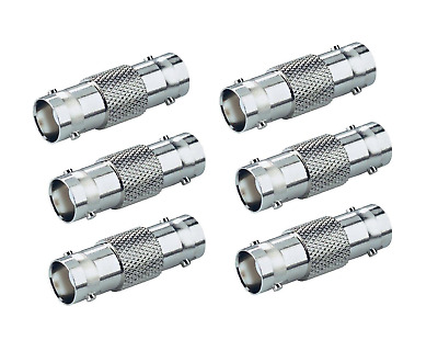 $ CDN10.40 • Buy BNC Connector - Coupler 6 Pack BNC Female To Female, Adapter For CCTV
