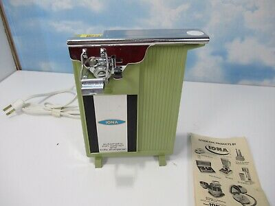 $ CDN107.76 • Buy Vintage IONA Automatic Can Opener And Knife Sharpener C-19KS GREEN WITH MANUAL