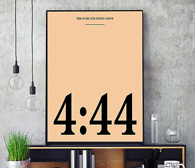 £11.99 • Buy 4:44 (by JAY-Z) Album Cover Poster Professional Grade Print HD A3 A4 Wall Art