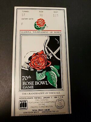 $19.99 • Buy 1984 Rose Bowl College Football Ticket Illinois Fighting Illini V UCLA Bruins