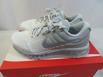 $107.99 • Buy Nike Air Max 2017 White Wolf Grey Running Shoes 849559 009 Men Size 8.5