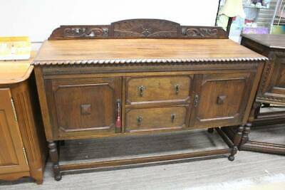 AU556 • Buy An Antique Art Nouveau English Oak Sideboard - Jacobean Buffet