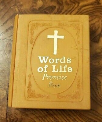 £7.19 • Buy Vintage Words Of Life Promise Box-Warner Press T-9605 Inspirational Bible Quotes