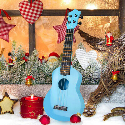 AU30.99 • Buy Kids Ukulele Soprano Chrismas Toy 21 Inch ABS Blue Uke W/  Bag Picks String