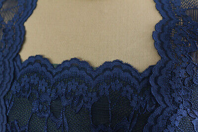 'Mother Of The Bride' Soft Corded Stretch Lace Dress Fabric Material (Midnight) • 5.99£