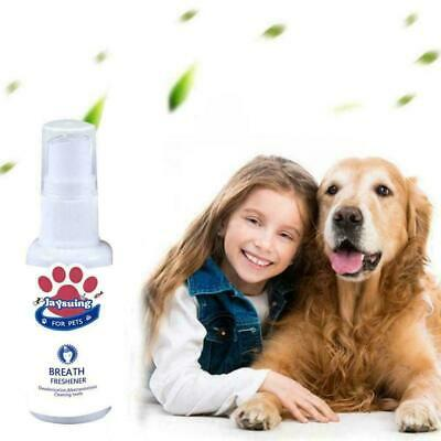 Pet Dental Spray Dogs Oral Care Bad Breath Teeth Cleaning Freshener HOT V4M7 • 2.09£