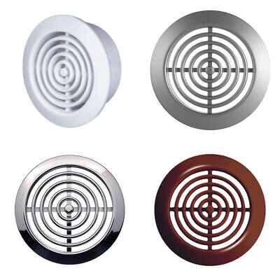2 X Round Air Vent Grille 45mm / 52mm Soffit Furniture Ventilation Cover • 3.17£