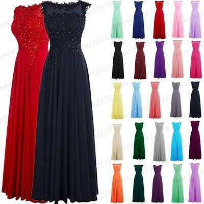 £28.32 • Buy Long Women Wedding Bridesmaid Dress Formal Party Prom Ball Gown Evening Dresses