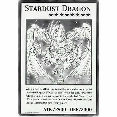 DUOV Stardust Dragon | Jumbo Oversized Card | YuGiOh Trading Card Game TCG • 1.75£