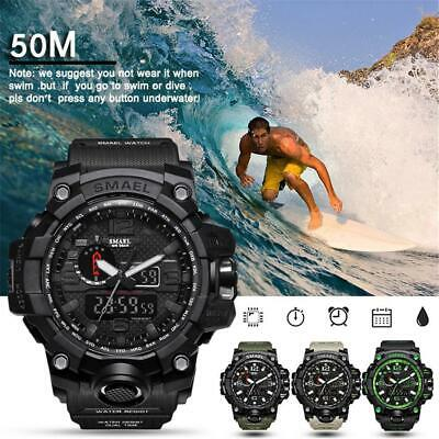AU19.99 • Buy For SMAEL Waterproof Sports Military S Shock Men's Analog Quartz Digital Watches