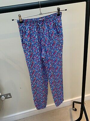£16.95 • Buy Hollister Blue & White Patterned Harem Trousers Size S