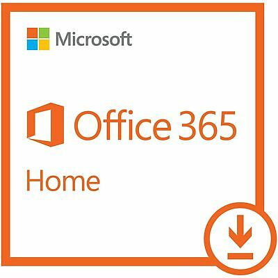AU95.66 • Buy Microsoft Office 365 Home   1-year Subscription, 6 Users, PC/Mac Download